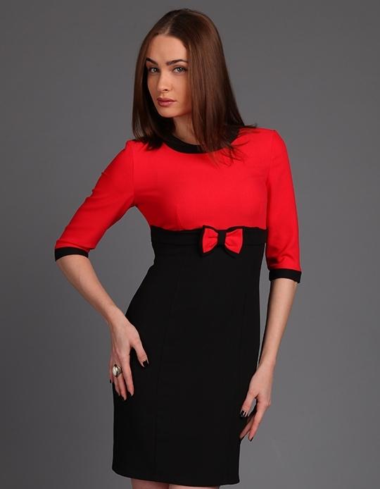 Фото черного платья с красным